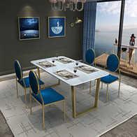 1950s kitchen table armoire 六人餐桌尺寸 六人餐桌高度 六人餐桌价格 推荐 淘宝海外 现代简约北欧风大理石餐桌一桌六椅六人餐桌椅组合