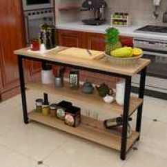Steel Kitchen Table Cabinets Knoxville Tn 厨房钢木餐桌尺寸 厨房钢木餐桌高度 厨房钢木餐桌价格 推荐 淘宝海外 厨房桌子切菜桌小户型家用多层长方形钢木餐桌操作台