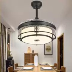 Kitchen Ceiling Fan Displays 厨房吊扇灯设计 厨房吊扇灯推荐 厨房吊扇灯安装 风格 淘宝海外 新中式风扇灯中国风吊扇灯厨房加长杆隐形静音餐厅风散