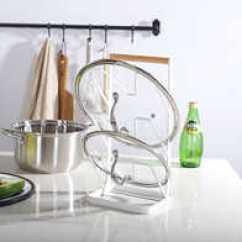 Kitchen Pot Hangers Island With Sink And Dishwasher 铁艺锅架设计 铁艺锅架收纳 铁艺锅架推荐 店 淘宝海外 北欧铁艺锅盖架砧板架锅架免打孔摆式架子家用