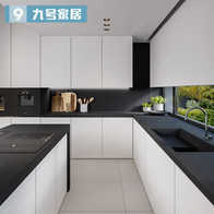 white kitchen cabinets aid toasters 白色橱柜设计 白色橱柜布置 白色橱柜图片 颜色 淘宝海外 现代简约整体橱柜定制纯白色开放式l形厨房厨柜全屋