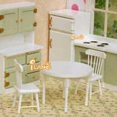 Kitchen Dinette Set Commercial Style Faucet 迷你厨房场景新品 迷你厨房场景价格 迷你厨房场景包邮 品牌 淘宝海外 1 12娃娃屋迷你场景白色圆桌椅餐桌椅套配件
