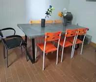 concrete kitchen table faucets ebay 水泥桌椅价格 水泥桌椅价钱 水泥桌椅意思 产地 淘宝海外 北欧现代水泥长方形桌子组合混凝土个性创意时尚简约田园餐桌桌椅