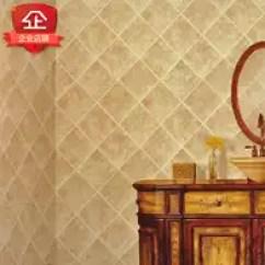 Wallpaper For Kitchen Table Small Space 厨房壁纸瓷砖颜色 厨房壁纸瓷砖设计 厨房壁纸瓷砖收纳 高度 淘宝海外 仿瓷砖墙纸中式菱形立体背景墙卫生间仿古砖餐厅饭店装修厨房壁纸