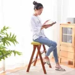 Kitchen Stool Cheapest Wood For Cabinets 厨房凳子尺寸 厨房凳子高度 厨房凳子设计 推荐 淘宝海外 梯凳折叠椅子家用简约现代厨房凳子时尚创意省空间便携折叠高