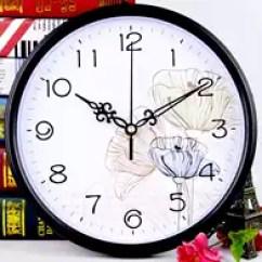 Blue Kitchen Wall Clocks Grease Trap 厨房挂钟新品 厨房挂钟价格 厨房挂钟包邮 品牌 淘宝海外 房间艺术挂钟风景石英钟挂在墙上的厨房文艺教师学生创意个性