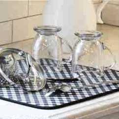 Kitchen Dish Drying Mat Rolling Island 干燥垫新品 干燥垫价格 干燥垫包邮 品牌 淘宝海外 花纹几何控水垫吸水垫厨房垫干物垫干燥垫茶壶茶杯垫