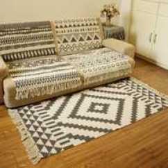 Ikea Kitchen Rugs Faucets Sale 进门地毯宜家颜色 进门地毯宜家设计 进门地毯宜家推荐 价格 淘宝海外 北欧宜家棉麻垫子家用客厅地毯卧室床边地垫厨房长条