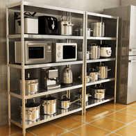 kitchen shelf pantry organizer 厨房架子设计 厨房架子收纳 厨房架子推荐 店 淘宝海外 厨房置物架不锈钢收纳整理架微波炉置物架子层架仓库货架落地多