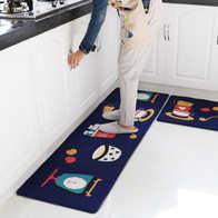 blue kitchen rugs best faucet 耐脏地毯颜色 耐脏地毯设计 耐脏地毯推荐 价格 淘宝海外 蓝色厨房地垫防油防滑家用防水耐脏长条垫子定制