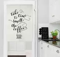 cafe kitchen curtains cabinets ebay 咖啡厅门帘颜色 咖啡厅门帘摆设 咖啡厅门帘设计 印刷 淘宝海外 美式北欧简约字母厨房咖啡厅门帘布艺隔断帘西餐厅布帘棉
