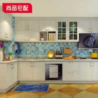 kitchen cabinets sets yellow appliances 橱柜套装整体设计 橱柜套装整体价格 橱柜套装整体价钱 颜色 淘宝海外 尚品宅配整体橱柜整装定制l型防潮橱柜厨房吊柜组合