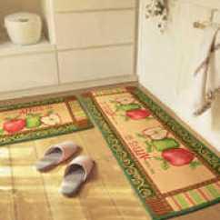 Apple Kitchen Rugs Square Sink 苹果地毯颜色 苹果地毯设计 苹果地毯推荐 价格 淘宝海外 外贸卡通苹果厨房防滑地垫吸水长条门口脚垫飘窗垫