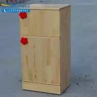 solid wood toy kitchen brushed nickel faucet 实木家具玩具diy 实木家具玩具批发 实木家具玩具推荐 材质 淘宝海外 零距离早教亲子园幼儿园儿童原木冰箱实木仿真厨房玩具过家家