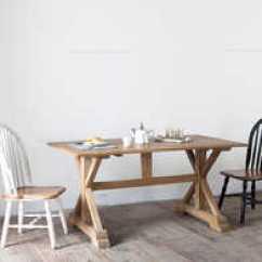 Country Style Kitchen Tables Glassware 美国乡村风格家具价格 美国乡村风格家具品牌 美国乡村风格家具尺寸 图片 出口法国美国法式经典乡村风格长方形橡米字腿餐桌