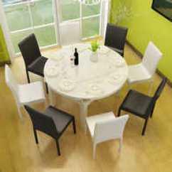 Hideaway Kitchen Table White Glass Backsplash 隐藏式餐桌新品 隐藏式餐桌价格 隐藏式餐桌包邮 品牌 淘宝海外 座椅家庭别墅2018新款餐桌椅餐桌餐椅饭馆茶几防水椅子