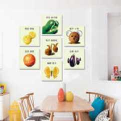 Kitchen Art Decor Retro Table Sets 饭厅装饰画蔬菜设计 饭厅装饰画蔬菜下载 饭厅装饰画蔬菜教学 图片 淘宝海外 创意水果艺术装饰画客厅厨房挂画蔬菜壁画饭厅个性无框画