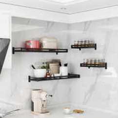 Kitchen Wall Mounted Cabinets Countertops Laminate 厨房调料柜壁挂设计 厨房调料柜壁挂收纳 厨房调料柜壁挂推荐 店 淘宝海外 厨房置物架家用多功能收纳架壁挂式调料架子橱柜省空间免