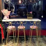 kitchen table set with bench art for wall 厨房长条桌新品 厨房长条桌价格 厨房长条桌包邮 品牌 淘宝海外 北欧简约长条吧台桌椅客厅创意小吧台家用厨房隔断靠墙