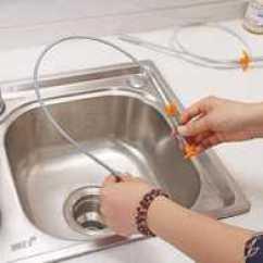 Unclog Kitchen Drain Cabinet Parts 厨房排水管清洁用法 厨房排水管清洁成份 厨房排水管清洁推荐 工具 淘宝海外 排水管道清洁器厨房疏通下水道工具浴室卫生间地漏毛发清理神器