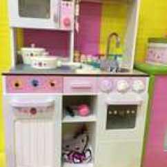 Wooden Kids Kitchen How Much For New Cabinets 木制儿童厨房大推荐 木制儿童厨房大哪里买 木制儿童厨房大批发 Diy 西式组装超大厨房木制过家家仿真儿童玩具做饭灶台