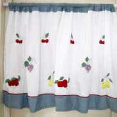 Fruit Kitchen Curtains Granite Tables 水果窗帘价格 水果窗帘颜色 水果窗帘设计 尺寸 淘宝海外 出口棉布绣花水果小挂帘咖啡帘成品窗帘门帘厨房卫生间窗帘短