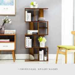 Kitchen Bookshelf Flooring 厨房书架设计 厨房书架diy 厨房书架技巧 意思 淘宝海外 竹木s形书架落地组合门厅书柜实木简易厨房酒架简约现代