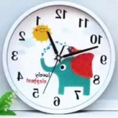 Blue Kitchen Wall Clocks Track Lights For 宾馆用钟新品 宾馆用钟价格 宾馆用钟包邮 品牌 淘宝海外 简约家用挂钟指针厨房蓝色符号圆形防水简单宾馆静音怀旧设计