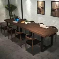 Retro Kitchen Tables Under Sink Storage 厨房餐桌椅尺寸 厨房餐桌椅高度 厨房餐桌椅价格 推荐 淘宝海外 复古铁艺实木厨房餐桌椅组合现代简约西餐厅办公室会议长方形桌子