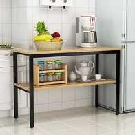 steel kitchen table easy designer 木桌订做尺寸 木桌订做高度 木桌订做价格 推荐 淘宝海外 厨房小桌子餐桌切菜桌置物操作台家用两层三层钢