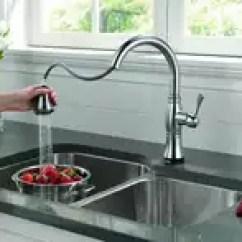 Stainless Steel Kitchen Faucet With Pull Down Spray Table Drawers 下拉式龙头安装 下拉式龙头结构 下拉式龙头好用吗 价钱 淘宝海外 美国得而达delta9197tcassidy 凯斯迪系列触控单柄下拉式厨房