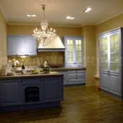 Blue Kitchen Island Cheap Modern Cabinets 中岛厨房柜设计 中岛厨房柜尺寸 中岛厨房柜收纳 颜色 淘宝海外 长沙德盟整体厨房橱柜定制蓝色地中海实木中岛台原木高