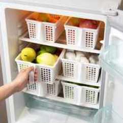 Kitchen Basket Cabinet Lighting 冰箱收纳厨房收纳篮子批发 冰箱收纳厨房收纳篮子教学 冰箱收纳厨房收纳 日本进口带手柄塑料收纳篮厨房沥水收纳盒冰箱置物篮子桌面收纳