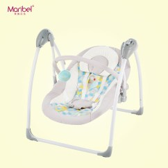 Baby Sleeping Chair Black Leather Desk Chairs Electric Rocking Newborn Cradle Pacifier Swing Deck With Mosquito Net