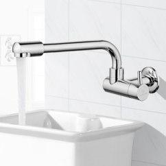 Kitchen Wall Faucets Ikea Hardware 入墙式厨房水槽单冷水龙头全铜单孔墙面加长防溅洗菜盆龙头可旋转 Tmall 入墙式厨房水槽单冷水龙头全铜单孔墙面加长防