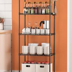 Metal Kitchen Shelf Stand Alone Pantry 空间生活阳台置物架落地浴室架子厨房置物架层架金属储物架收纳架 Tmall 空间生活阳台置物架落地浴室架子厨房置物架层架金属储物