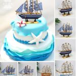Sailing Cake Decoration Decoration Creative Cake Decoration Accessories Sailing Ship Sailing Cake Birthday Cake Decoration