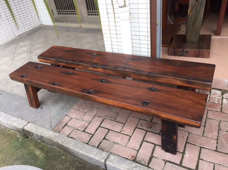 old boat wooden bench