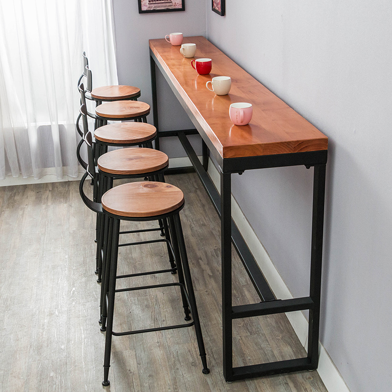 Solid wood bar tables and chairs bar table cafe tea shop
