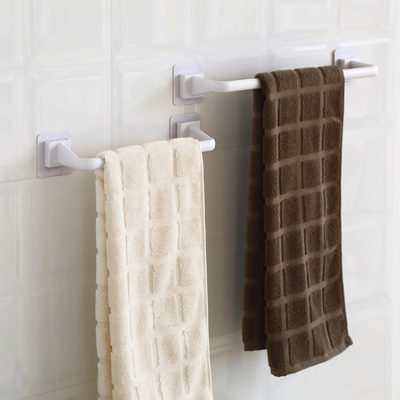 2 Towel Rack Bathroom Hanger Rag Suction Cups Without Punching Holes Kitchen Powder Room Toilet Hanging Towels 桿