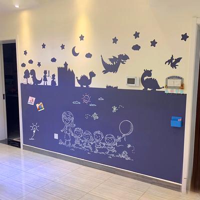 卡通造型雙層黑板牆貼彩色環保兒童房裝飾家用磁力黑板牆貼磁性黑板貼無塵塗鴉擦寫造型黑板可定製