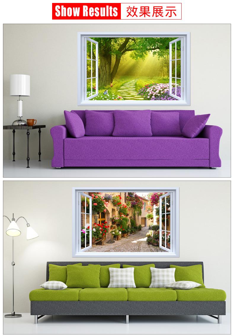 牆面裝飾貼畫3d立體壁貼畫壁紙壁紙自粘客廳背景牆風景牆壁畫貼紙