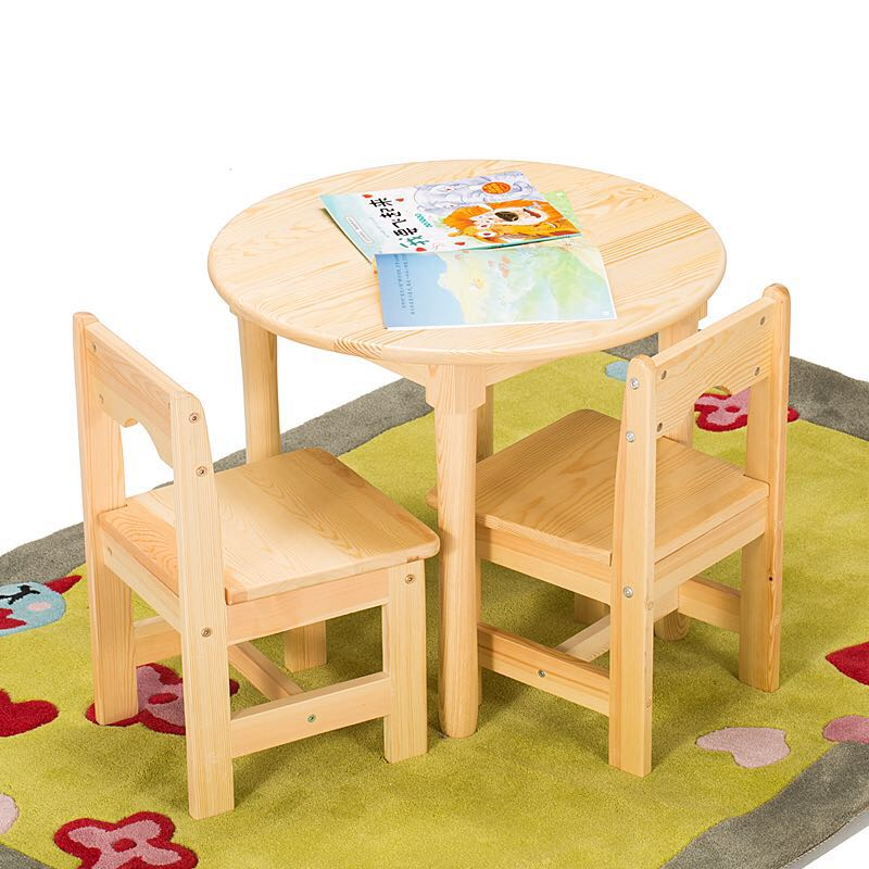 childrens table and chairs posture chair ebay usd 123 04 solid wood children small round baby set kindergarten tables wholesale game