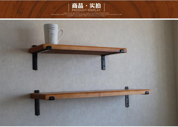 實木一字隔板置物架北歐壁掛書架層板裝飾架廚房客廳牆面實木隔板