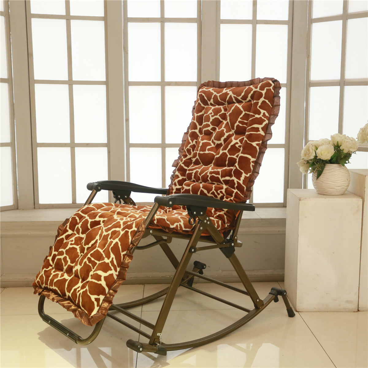 folding chair with cushion jewish dance gif usd 12 47 chaise longue thickened winter lunch break lightbox moreview