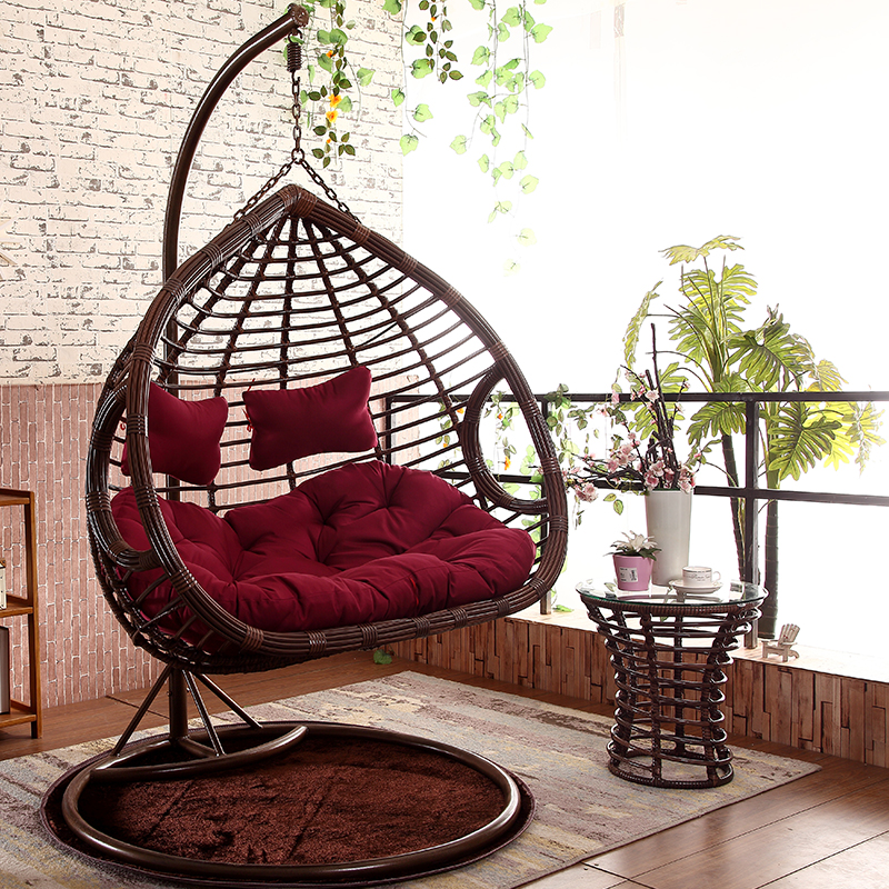 hanging chair outdoor drive medical transport usd 361 25 rattan xuan pavilion double balcony adult leisure basket couple swing