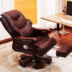 Brown Computer Chair Designer Executive Usd 141 16 Home Can Be Lying Down The First Layer Of Leather Swivel Boss Office