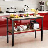 zinc kitchen table aid stand mixers 简易厨房做饭桌子新品 简易厨房做饭桌子价格 简易厨房做饭桌子包邮 品牌 厨房小桌子切菜桌家用两层桌长桌整体厨房桌子切