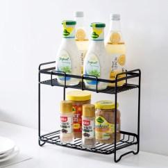 Kitchen Storage Racks Origami Folding Island Cart Usd 10 82 Home Iron Seasoning Rack Condiment Floor Shelf Double