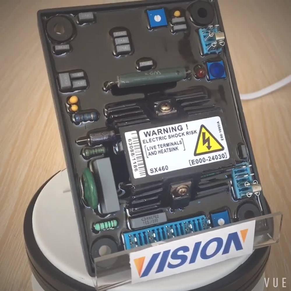 medium resolution of genset avr circuit diagram 3 phase automatic voltage regulator avr sx460 for ac brushless generator
